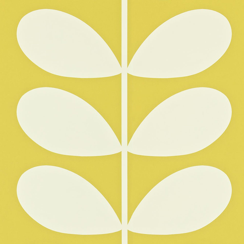Orla Kiely behang Giant Stem Yellow