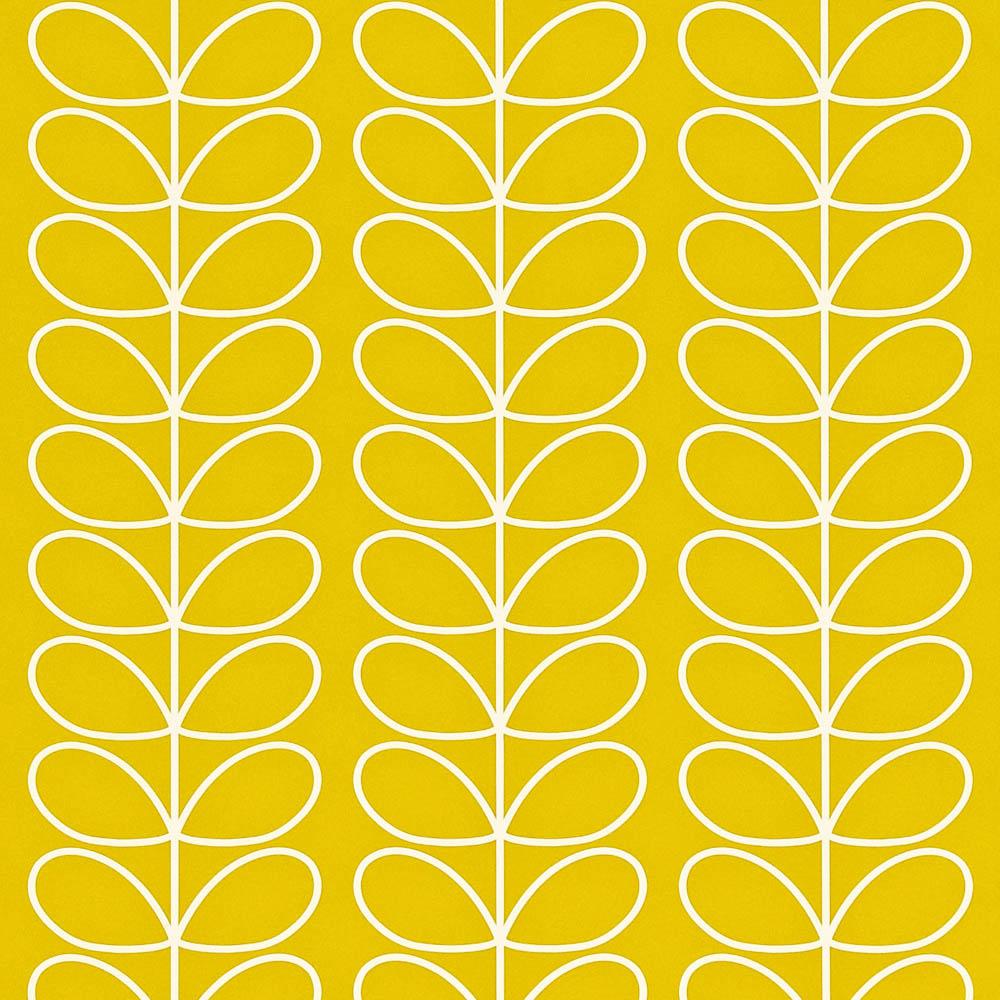 Orla Kiely behang Linear Stem Mimosa