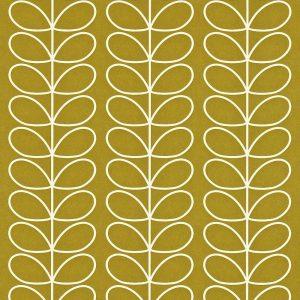 Orla Kiely behang Linear Stem Olive