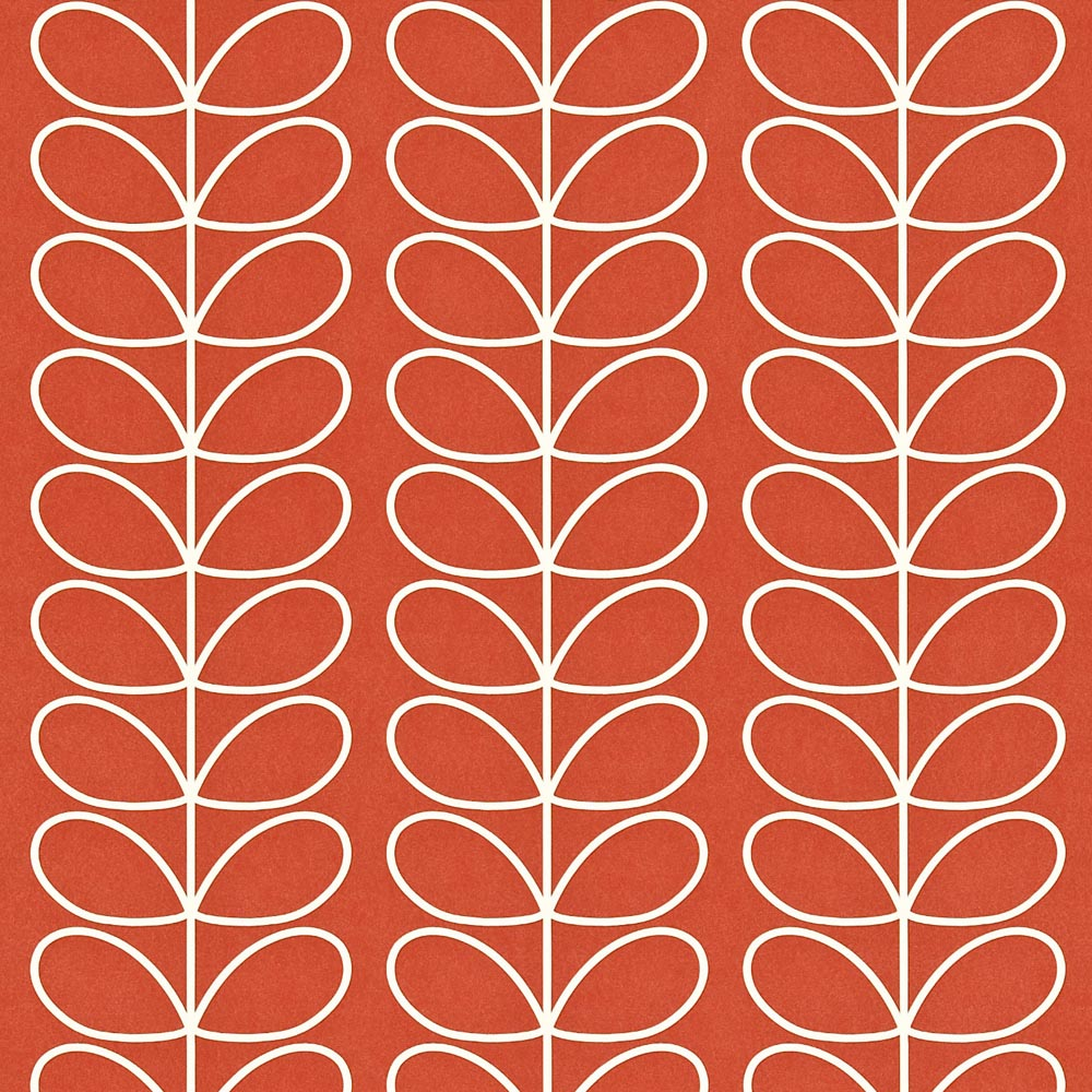 Orla Kiely behang Linear Stem Poppy