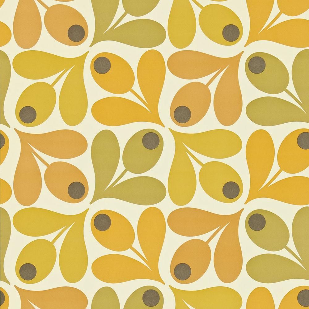orla kiely wallpaper multi acorn spot - Orla Kiely Behang
