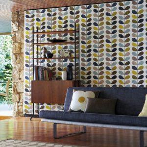 Orla Kiely behang Multi Stem Seagreen