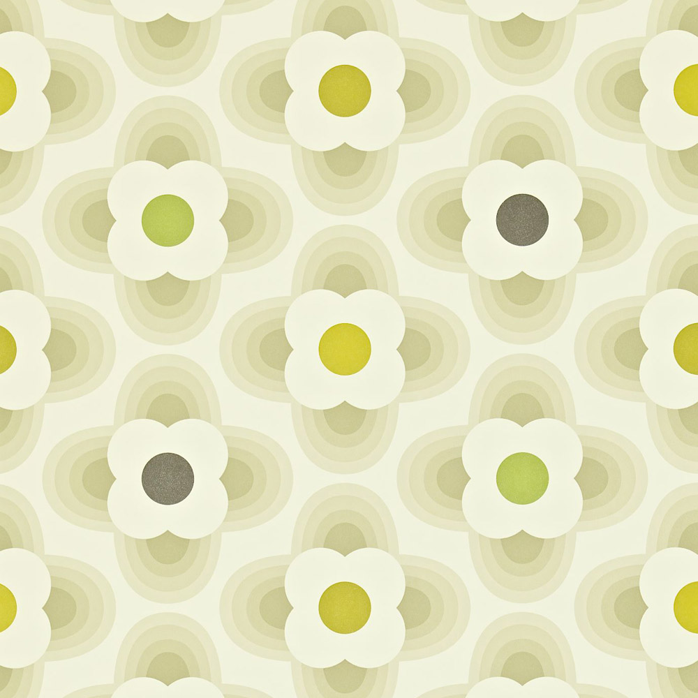 Orla Kiely behang Multi Striped Petal Grey