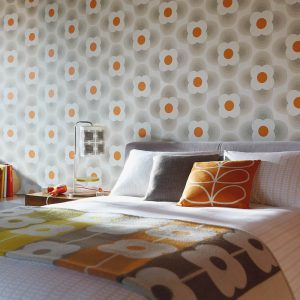 Orla Kiely behang Striped Petal Sea