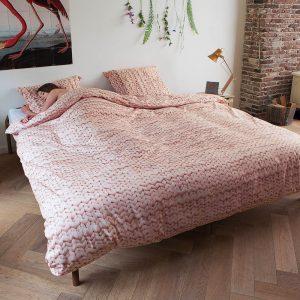 Snurk dekbed overtrekset Twirre roze