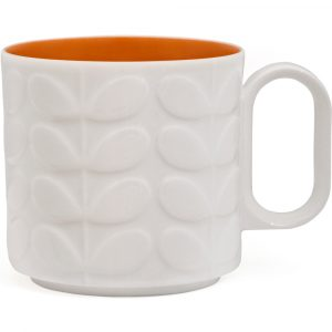 Orla Kiely Raised Stem mok oranje