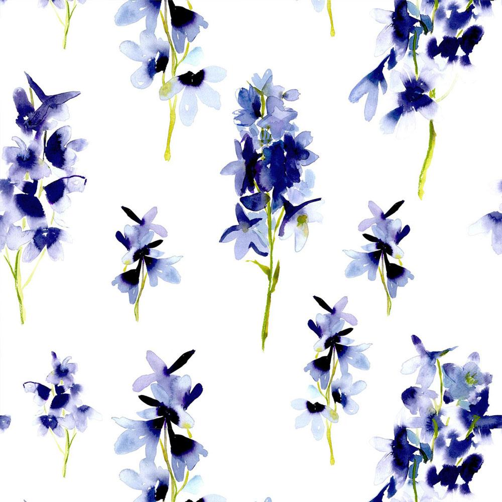 Bluebellgray behang Delphinium