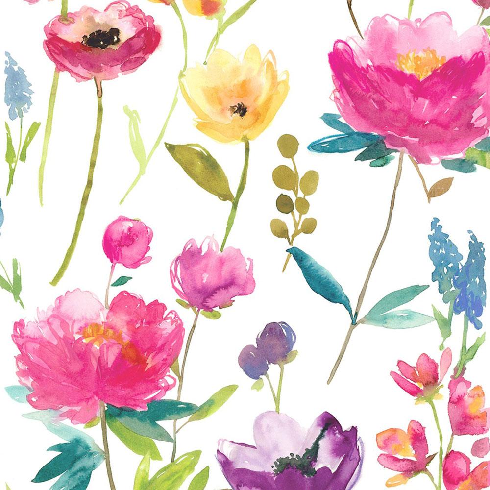 Bluebellgray behang Flower Field