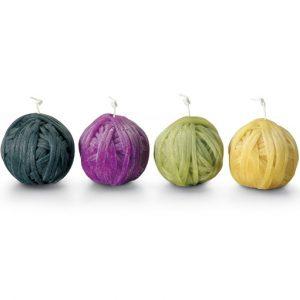 Missoni Home Gomitolo kaarsen klein paars-groen - set van 4
