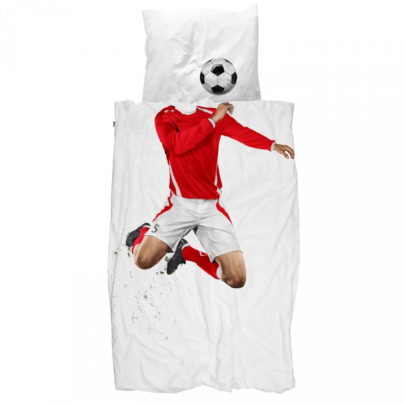 Snurk dekbed overtrekset Soccer Champ rood