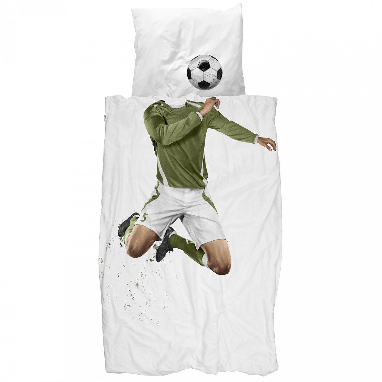 Snurk dekbed overtrekset Soccer Champ groen