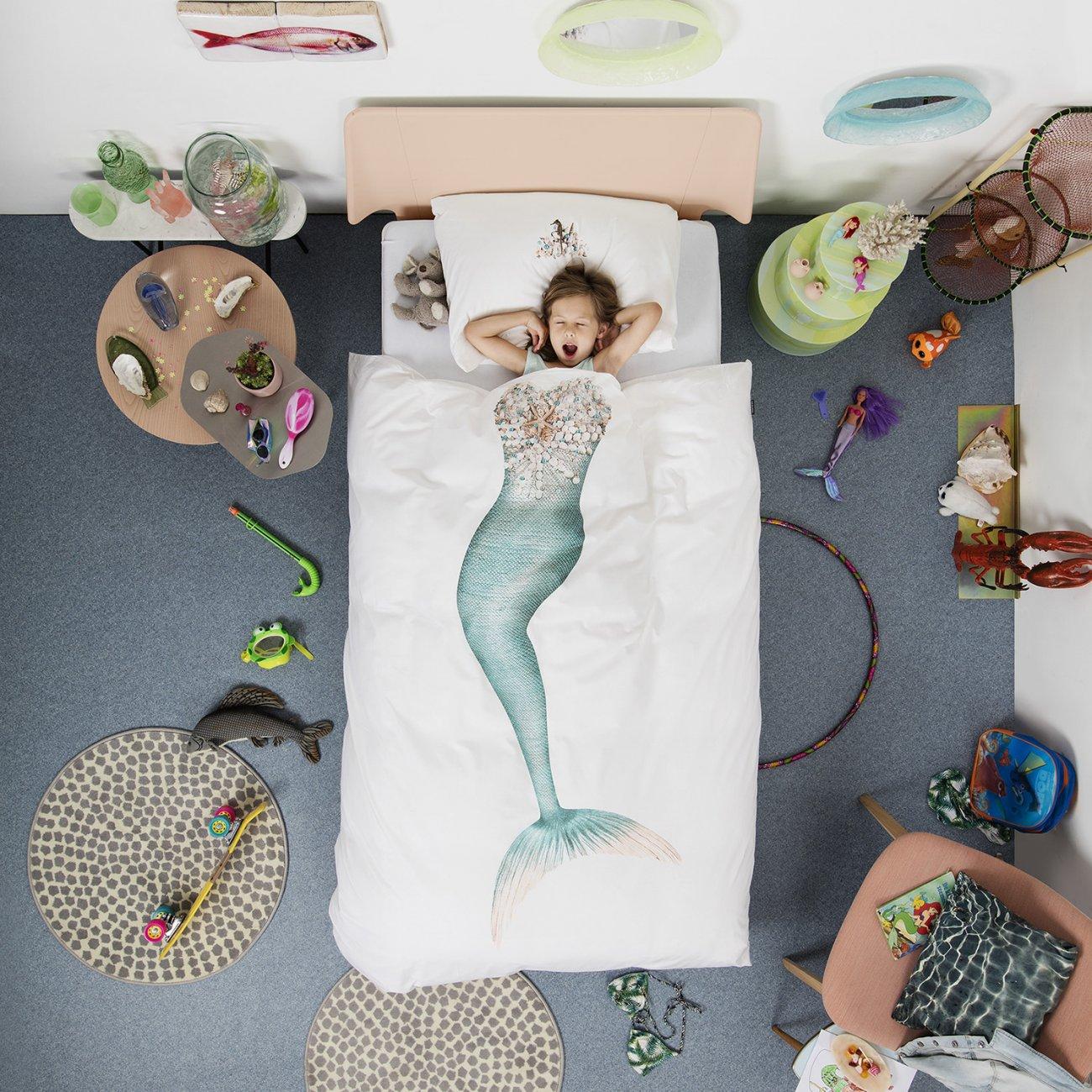 Snurk dekbed overtrekset Mermaid