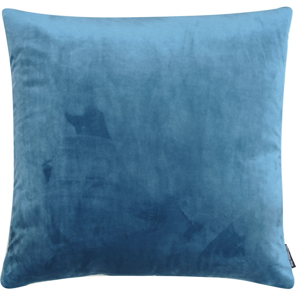 The Cushion Shop kussen Velvet Grey Blue
