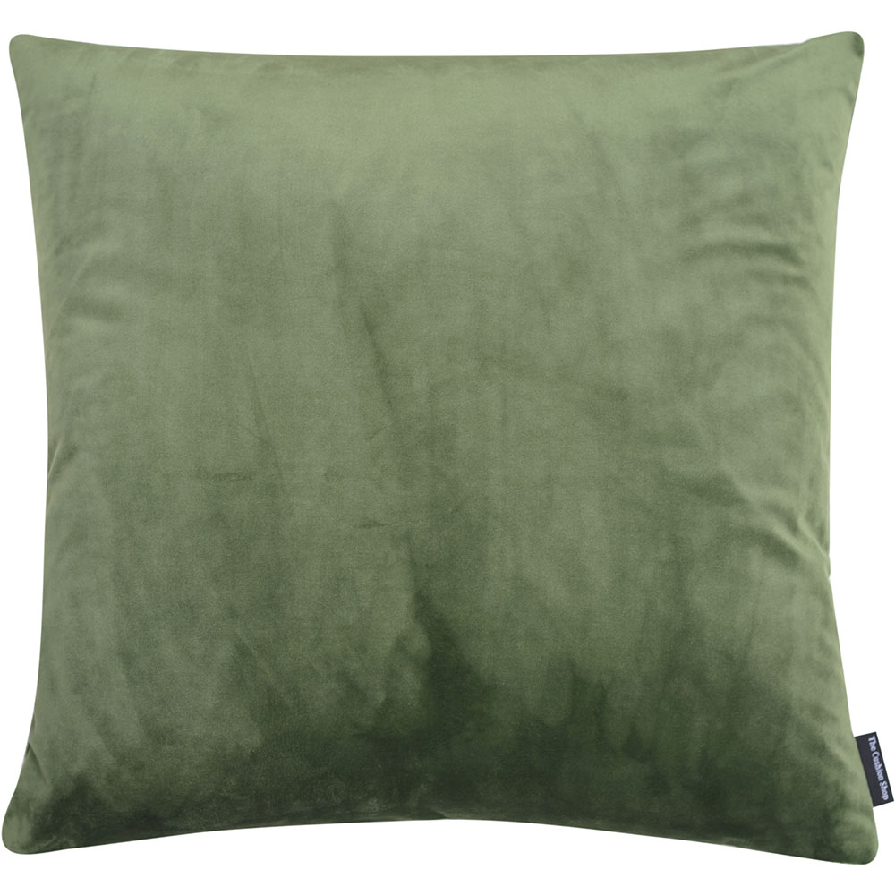 The Cushion Shop kussen Velvet Moss Grey