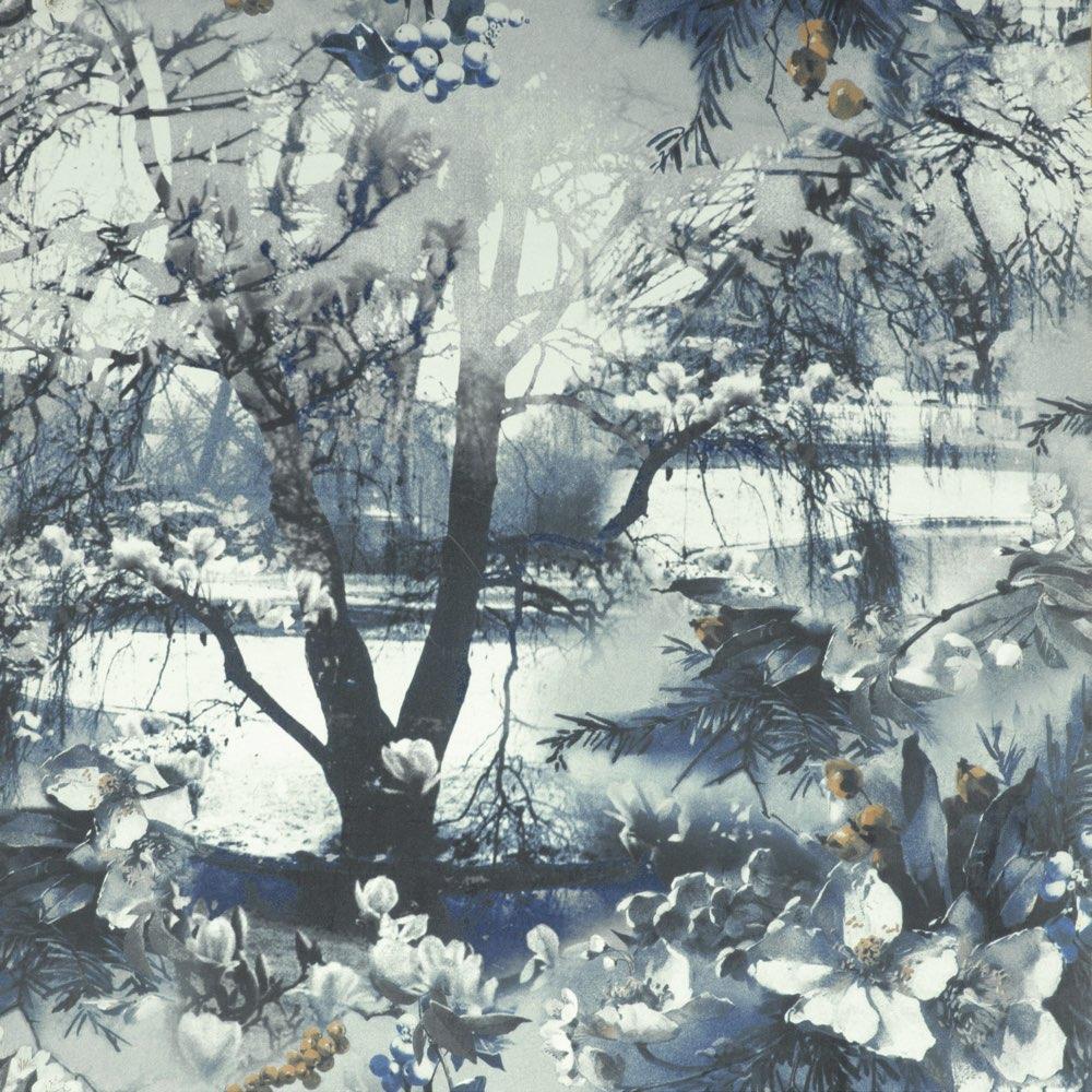 Jean Paul Gaultier behang Brume blauw