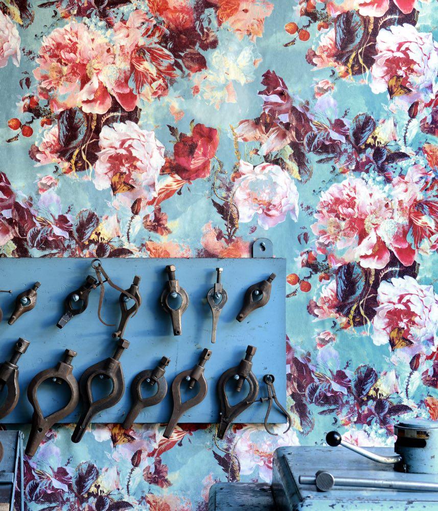 Jean Paul Gaultier behang Flamboyant blauw