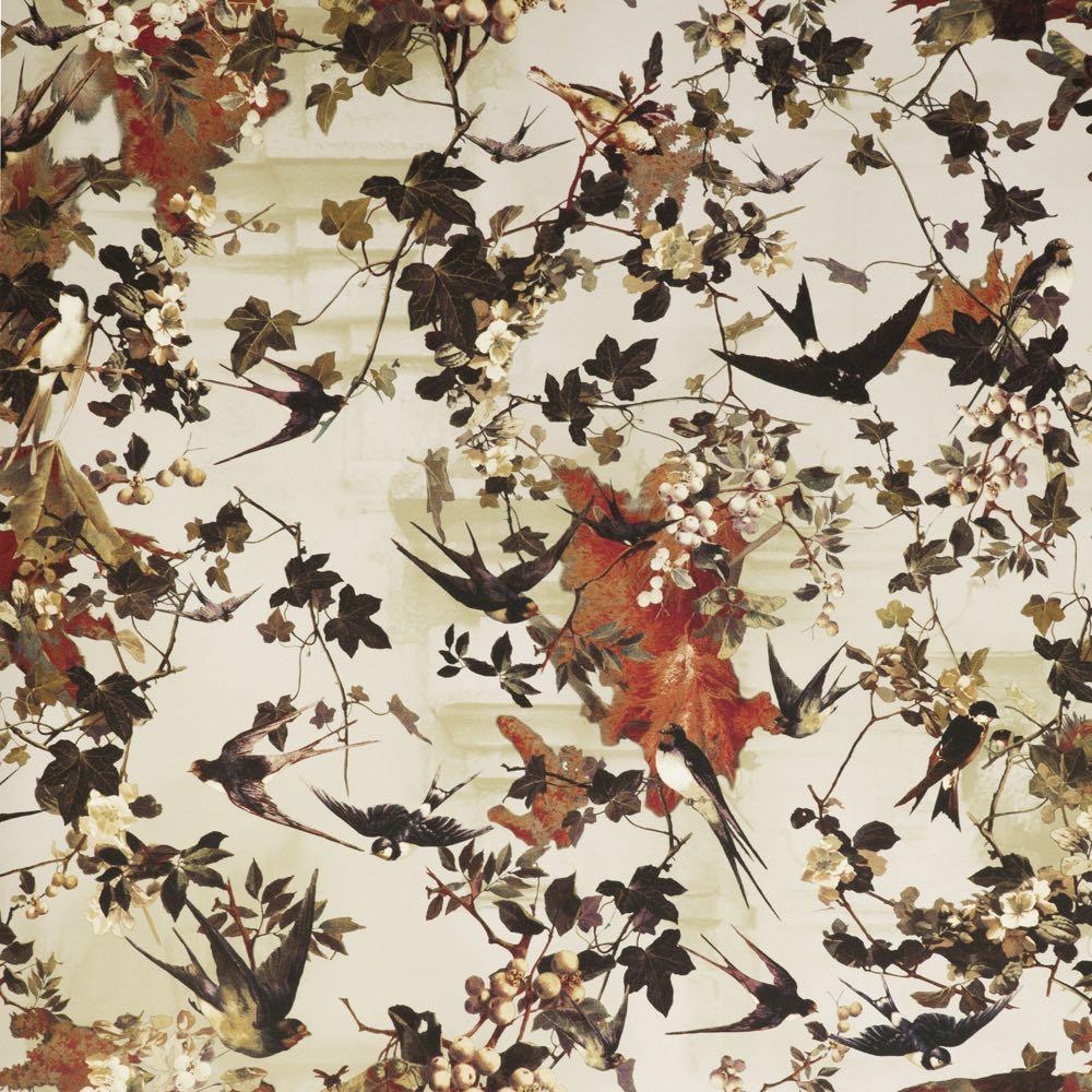 Jean Paul Gaultier behang Hirondelles Printemps