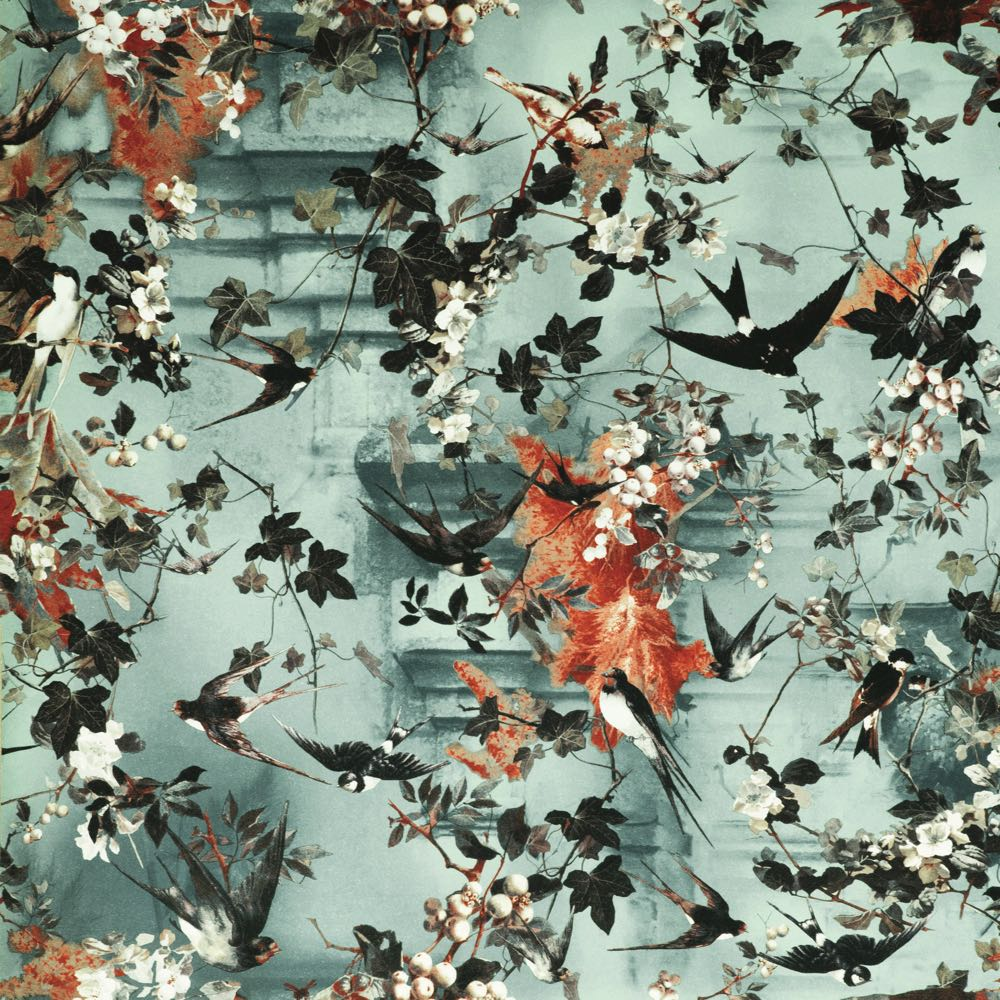 Jean Paul Gaultier behang Hirondelles Ete