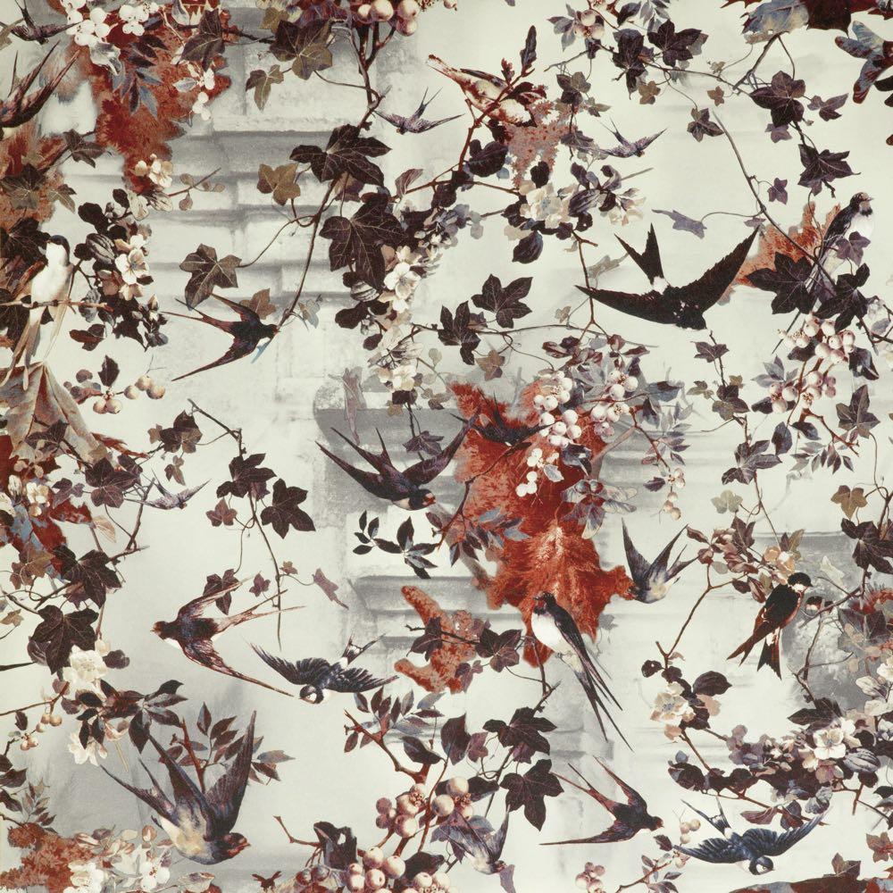 Jean Paul Gaultier behang Hirondelles Hiver