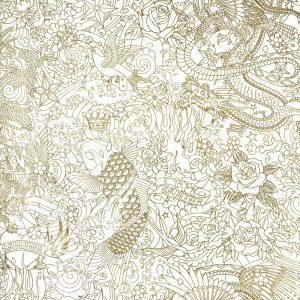 Jean Paul Gaultier behang Horimono goud