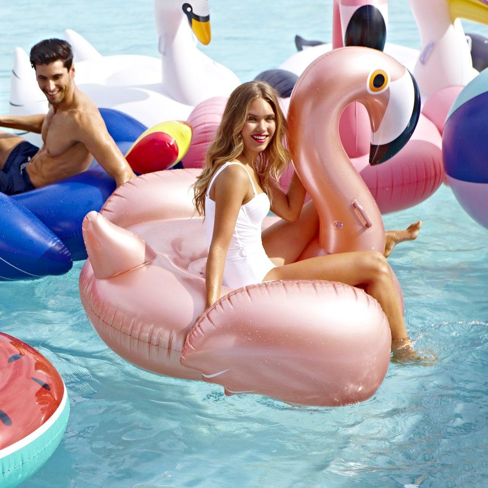 Sunnylife luxe opblaasbare float Flamingo Rose Gold XL