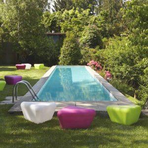 Missoni Home outdoor poef bijzettafel Pitagora