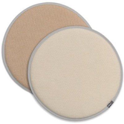 Vitra Seat Dot dubbelzijdig zitkussen Cream - Tobacco