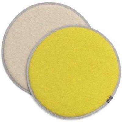 Vitra Seat Dot dubbelzijdig zitkussen Yellow - Cream