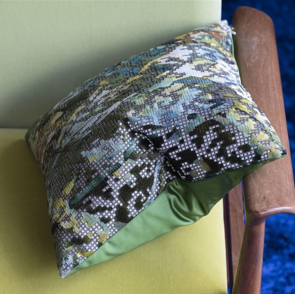 Designers Guild kussen Bardiglio Emerald