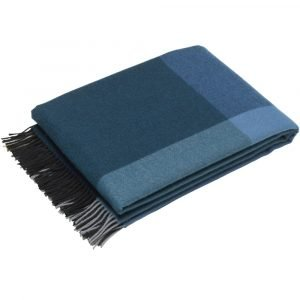 Vitra Colour Block Blanket plaid zwart-blauw