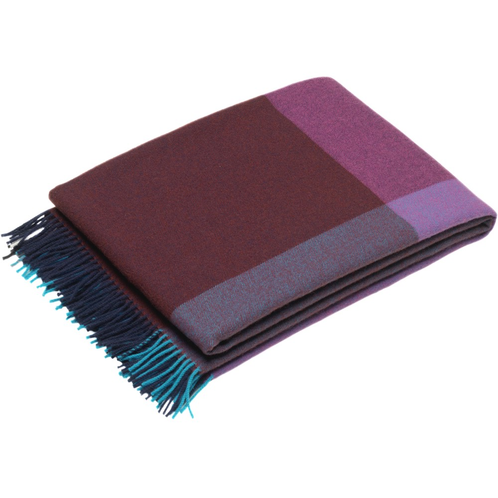 Vitra Colour Block Blanket plaid blauw-bordeaux