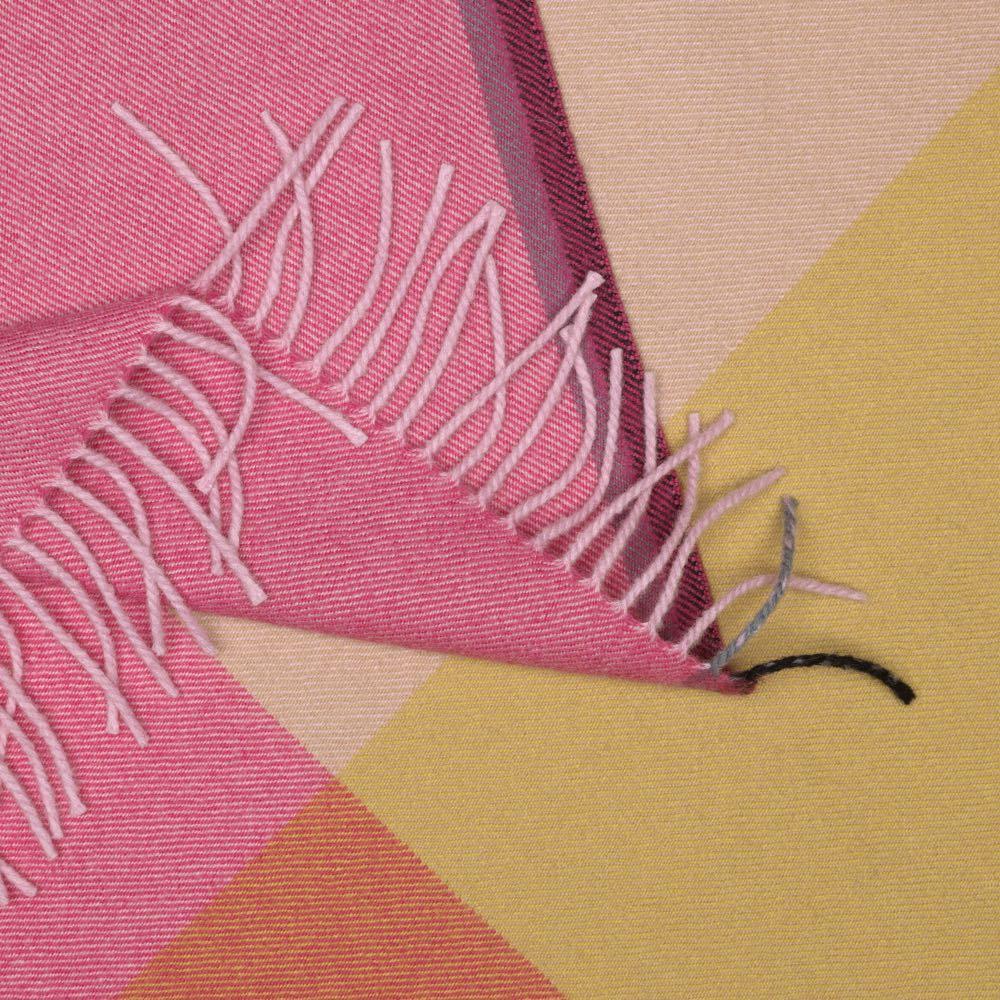 Vitra Colour Block Blanket plaid roze-beige