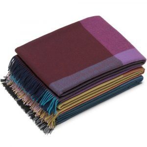 Vitra Colour Block Blanket plaid blauw-bordeaux
