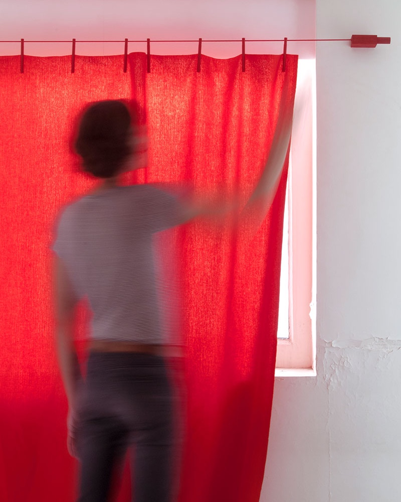 Kvadrat Ready Made Curtain Frozen gordijnstof