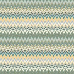 Missoni Home behang paneel Zigzag Multicolore metal 20064
