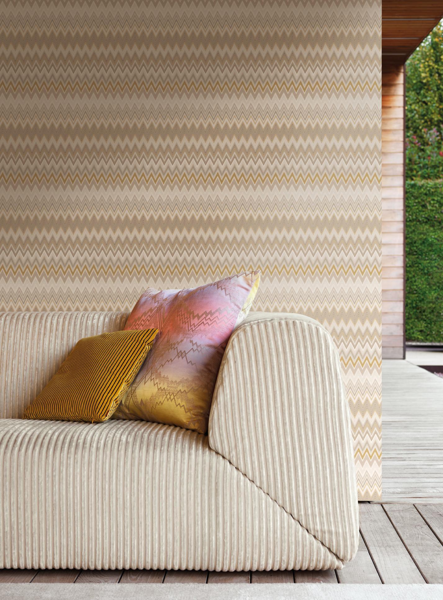 Missoni Home behang Zigzag Multicolore 10066
