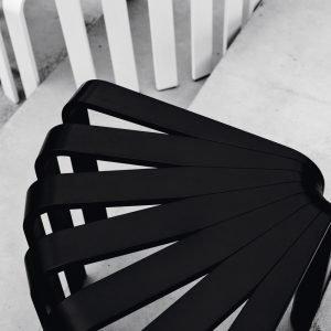 BEdesign Fan kruk zwart
