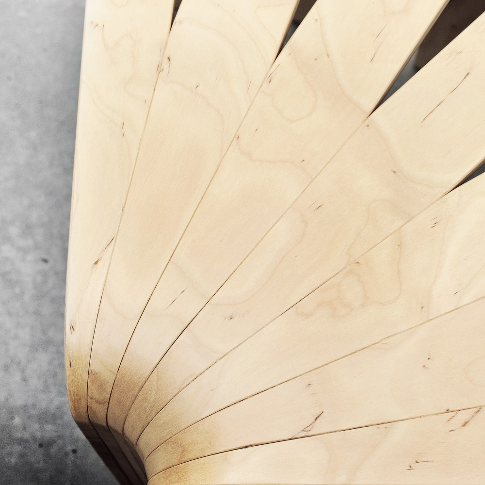 BEdesign Fan kruk naturel