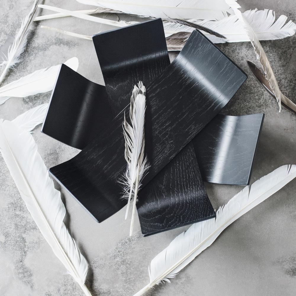 BEdesign Lily schaal eiken zwart