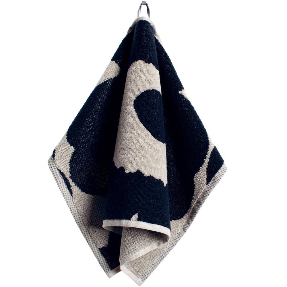 Marimekko gastendoek Unikko zwart-zand