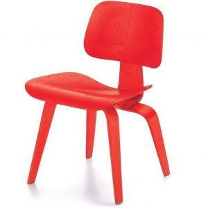Vitra DCW stoel rood miniatuur