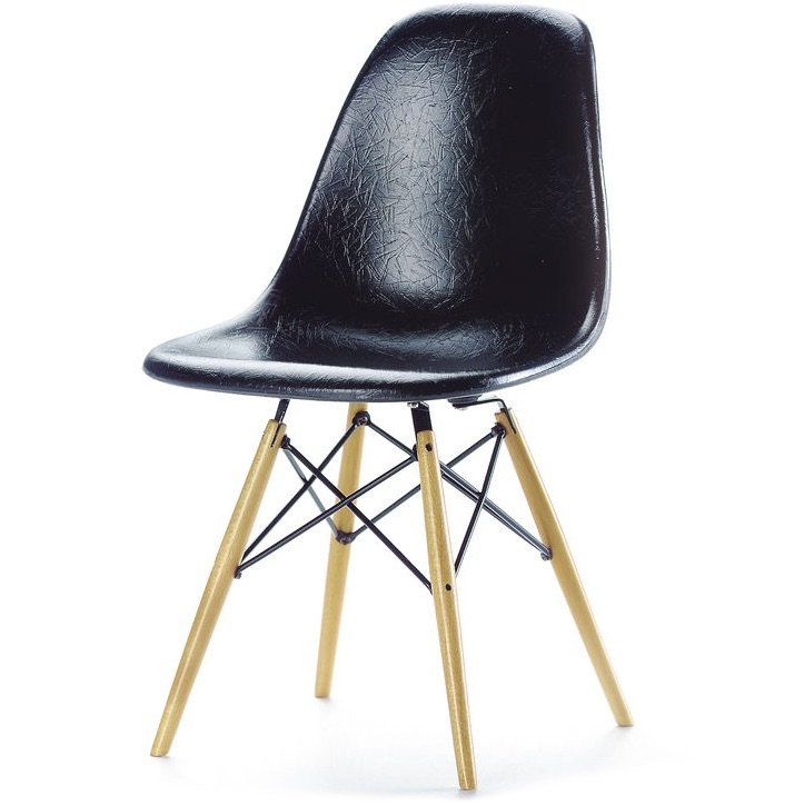Vitra DSW stoel zwart miniatuur