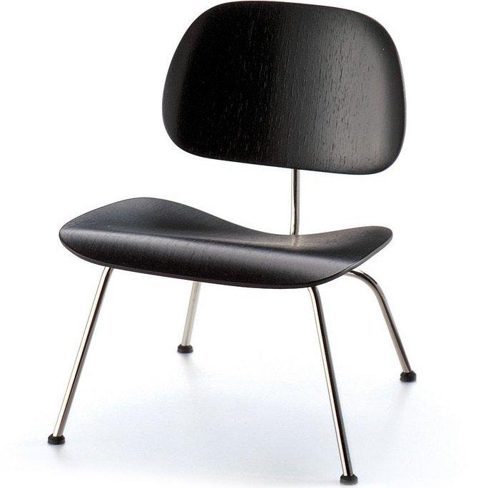 Vitra lcm stoel zwart miniatuur for Eames stoel zwart