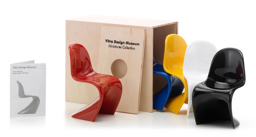 Vitra Panton Chair miniatuur - set van 5