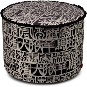 Missoni Home cilinder poef Ideogramma Silk 601