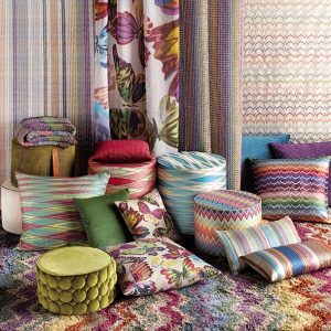 Missoni Home mini cilinder poef Velletri