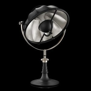 Fortuny Armilla 41 tafellamp zwart - bladzilver