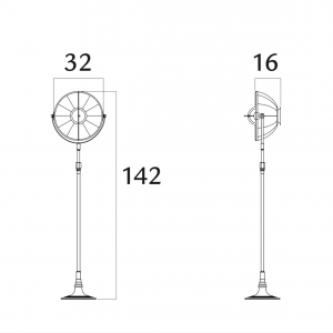 Fortuny Atelier 41 staande lamp bladgoud