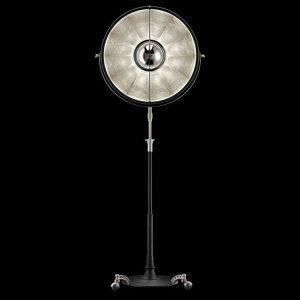 Fortuny Atelier 63 staande lamp bladzilver
