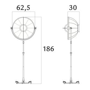 Fortuny Atelier 63 staande lamp bladgoud